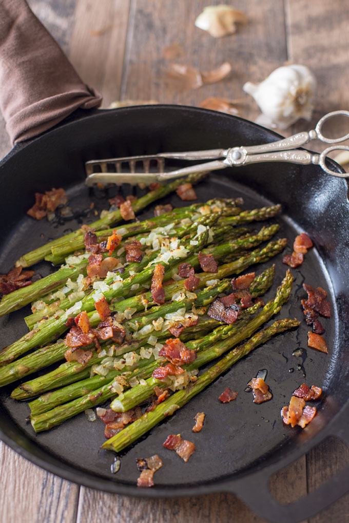 Skillet Asparagus with Bacon