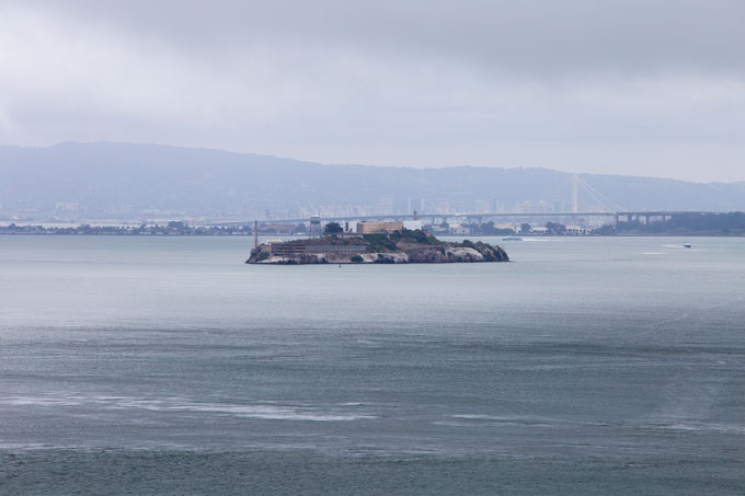Northern California Alcatraz in San Francisco Bay