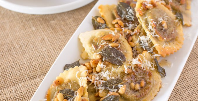 Mushroom Agnolotti with Sage Brown Butter