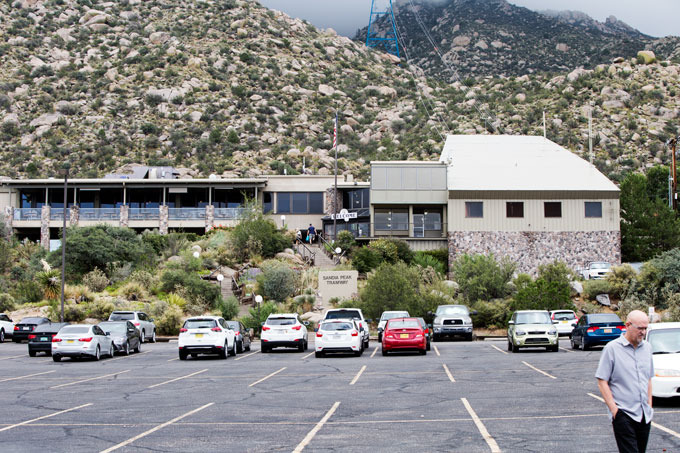 Front of tram building for Sandia Peak
