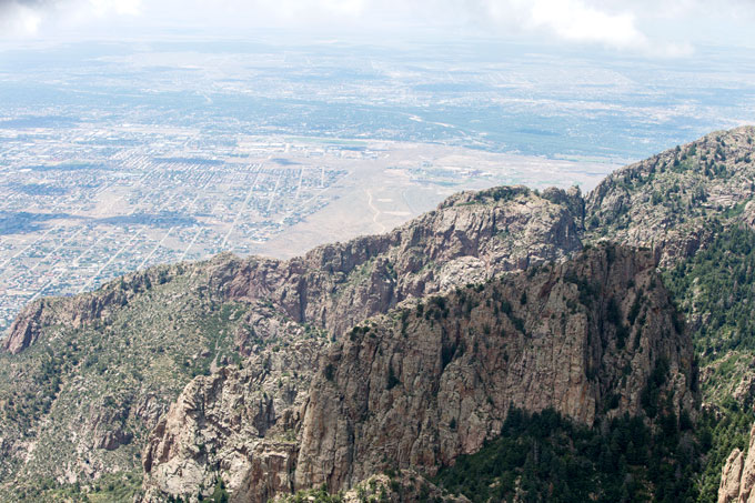 View going up Sandia Peak