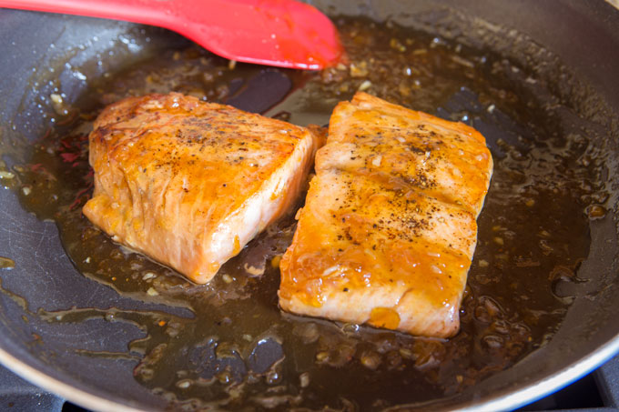 Easy Apricot Glazed Salmon