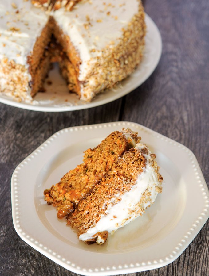 Carrot Cake with Apricot Filling