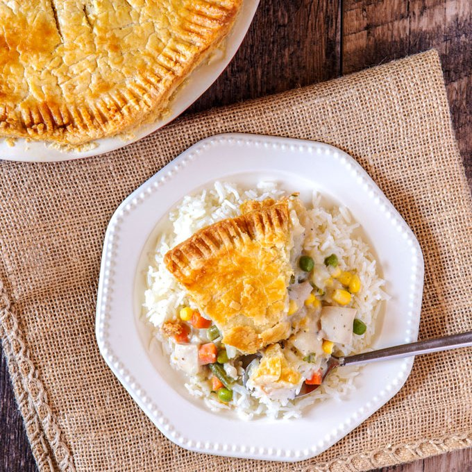 Soupy Chicken Pot Pie