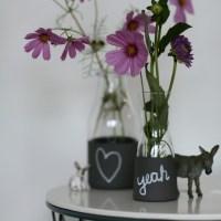 Selbst gemachte Tafellack-Vasen: unser neues Basteln-kann-mans-nicht-nennen-Projekt