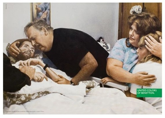 The Death of David Kirby (Photo: Therese Frare, 1990); (Concept: Tibor Kalman, Oliviero Toscani, Italy, 1992)