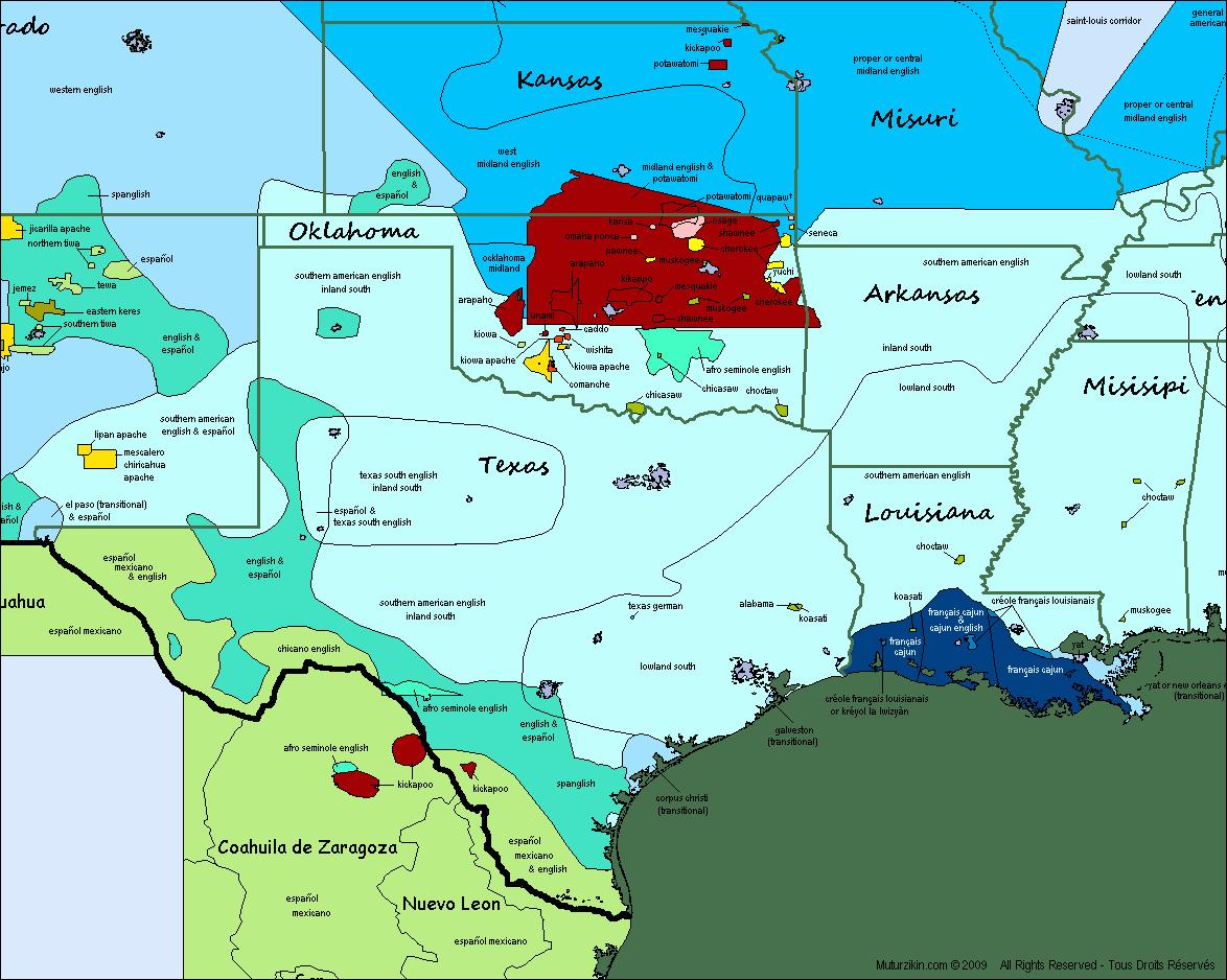 Map Of Texas Oklahoma And Louisiana