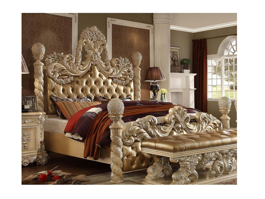 Victorian European Button Tufted Cal King Bed Shop For