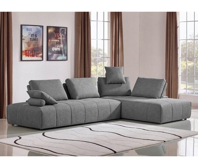Grey Fabric Modular Sectional Sofa
