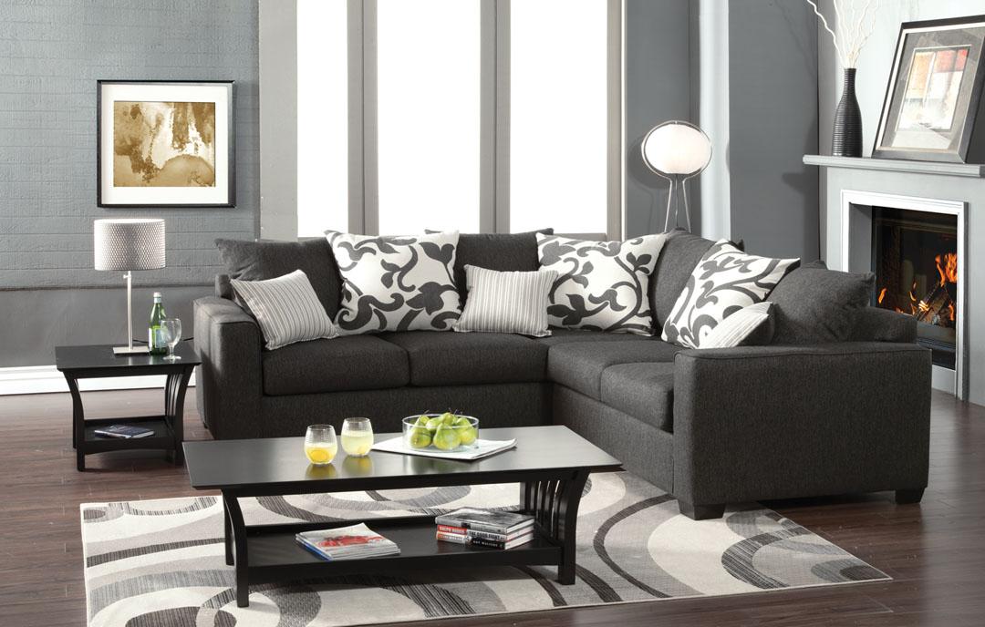 Cranbrook Charcoal Fabric Sectional Set Shop For