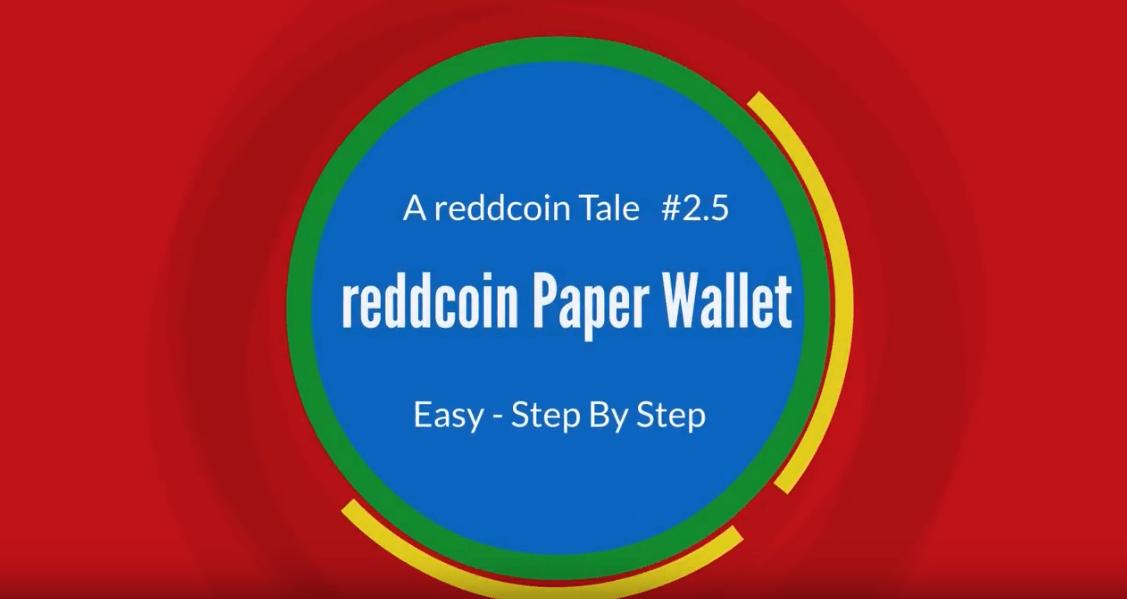 muxetv reddcoin tale a paperwallet 2