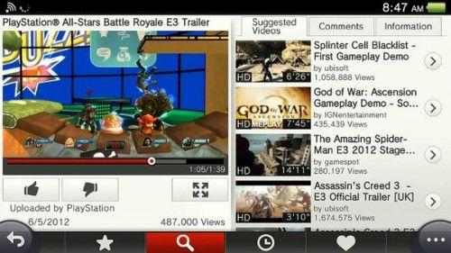 ps vita youtube app english 500x281 YouTube llega finalmente a PS Vita, app lista para descargar