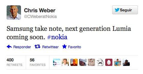Captura de pantalla 2012 08 17 a las 13.02.30 Nokia pone sobre aviso a Samsung, la próxima generación Lumia está cerca
