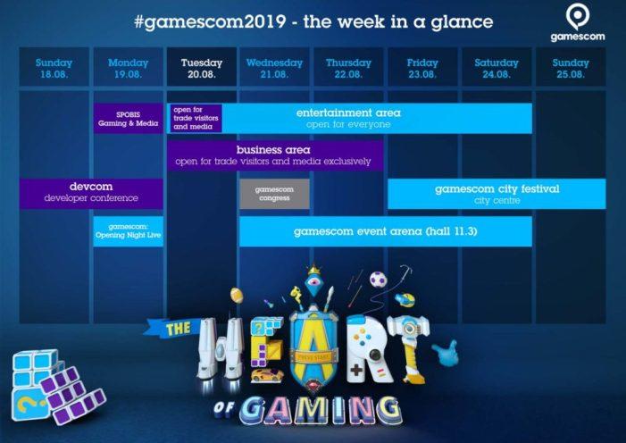 Horarios Gamescom 2019