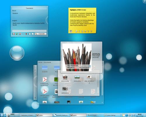 KDE 4.3 RC1 plasma