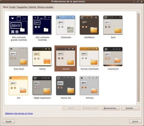 Ubuntu 9.10 Karmic Koala - Temas
