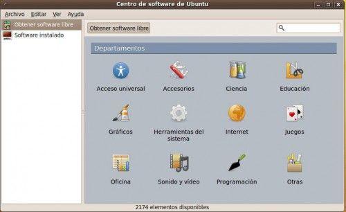 Aptlinex - Centro de software de Ubuntu