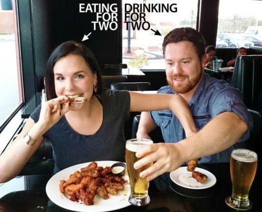 embarazo anuncio comer por dos