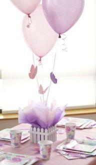 Manualdiades para Baby Shower con globos morados