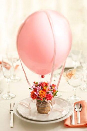 Manualdiades para Baby Shower con globos y flores