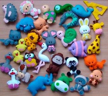 Manualidades para bebés animales de fieltro