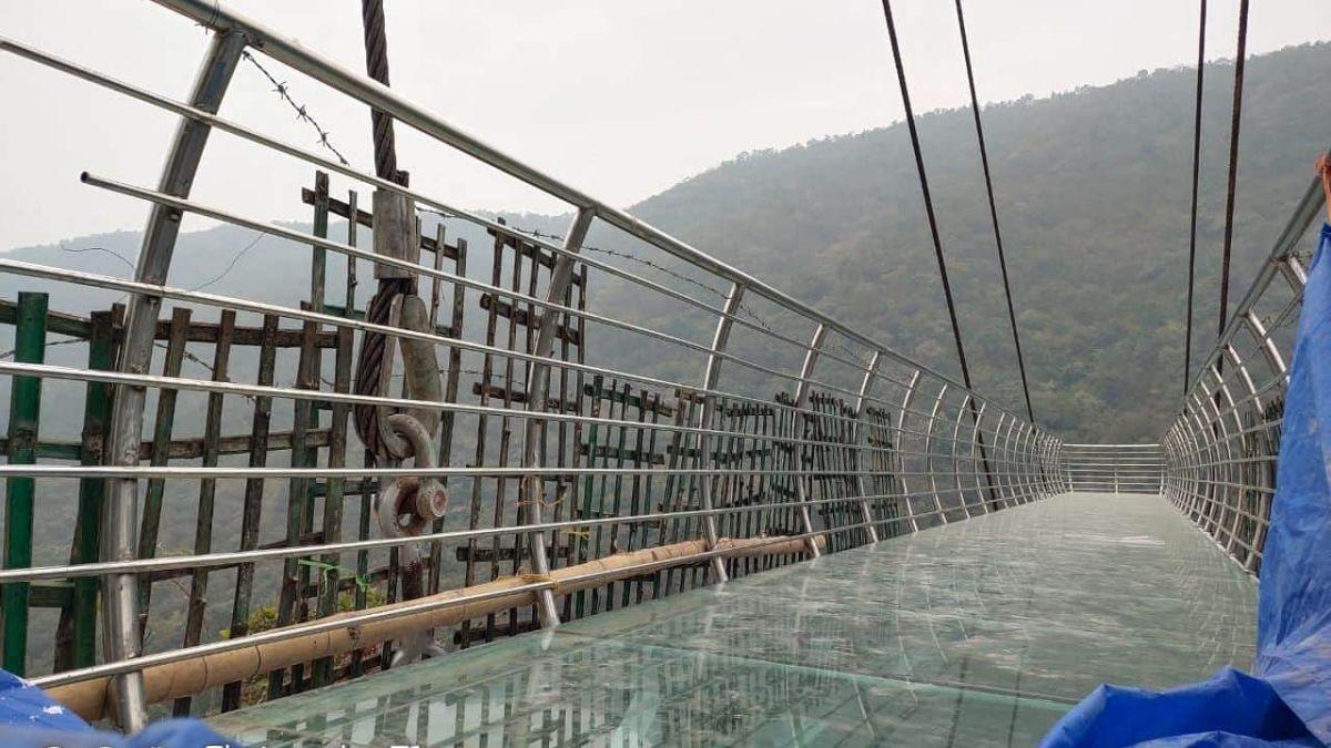 India's second Glass Bridge is being built in Rajgir, Bihar