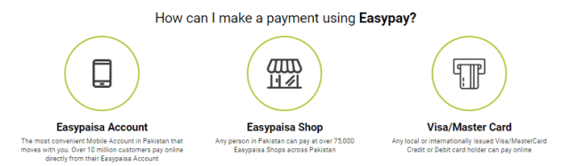 How to make payment with easypay on daraz black friday