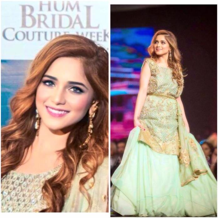 Aima Baig as Showstopper at Hum Bridal Couture Week