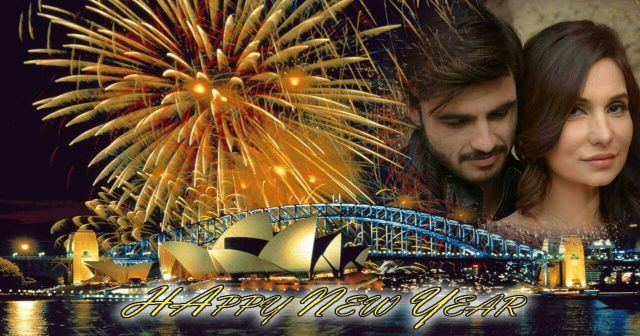 Muskan Jay Wishing Happy New Year