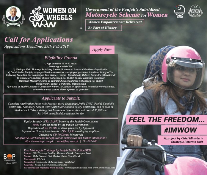 Women on Wheels - Call For Applications