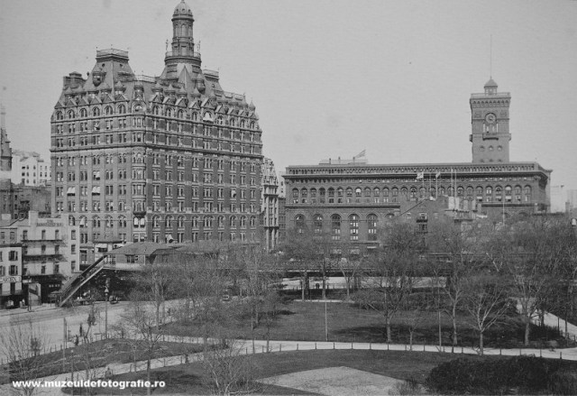Battery Place with Washington Building and Produce Excange