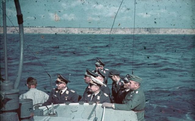 Officers on Siebel Ferry, Black Sea