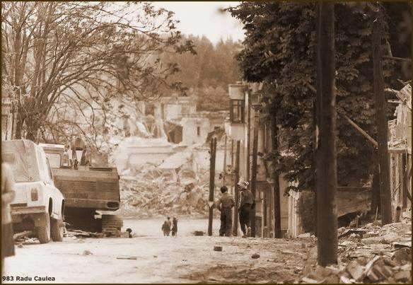 Strada Arionoaiei demolată în 1983