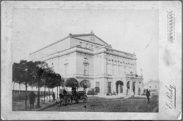 Teatrul National 1880 - cartonul original.