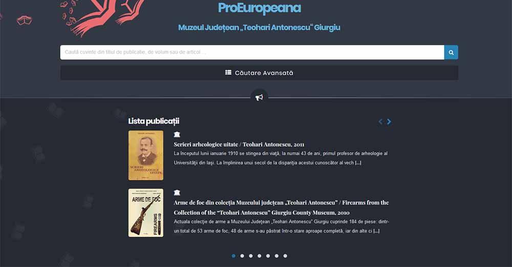 """Publicațiile Muzeului Județean """"Teohari Antonescu"""" Giurgiu"""