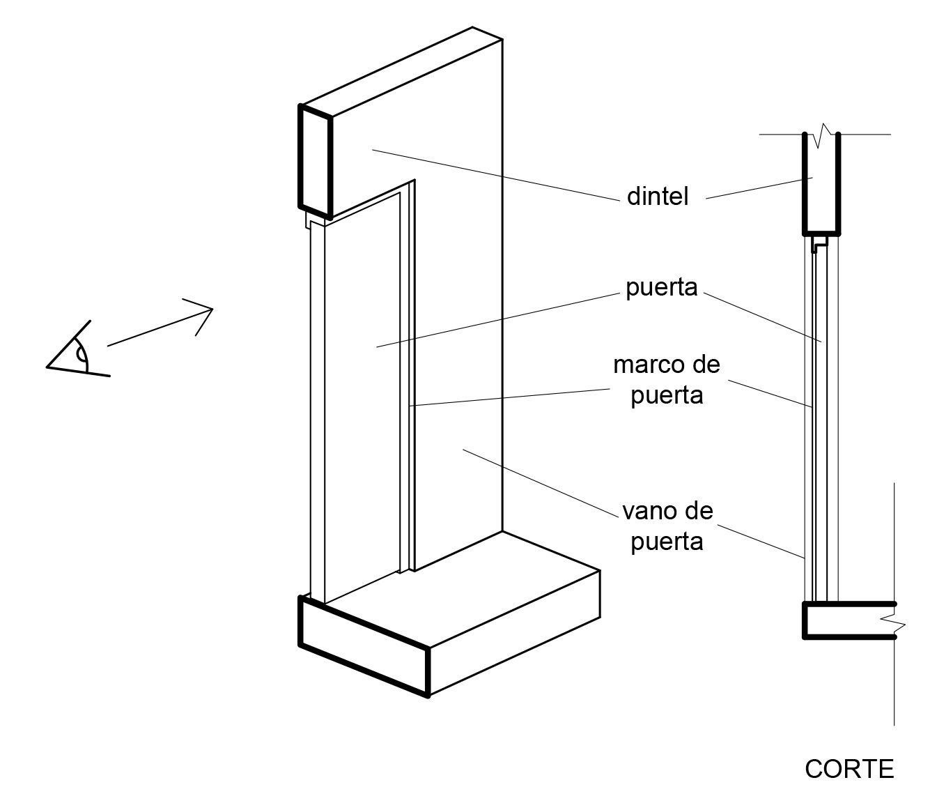 Planimetr a representaci n en planos de muros puertas y - Vano arquitectura ...