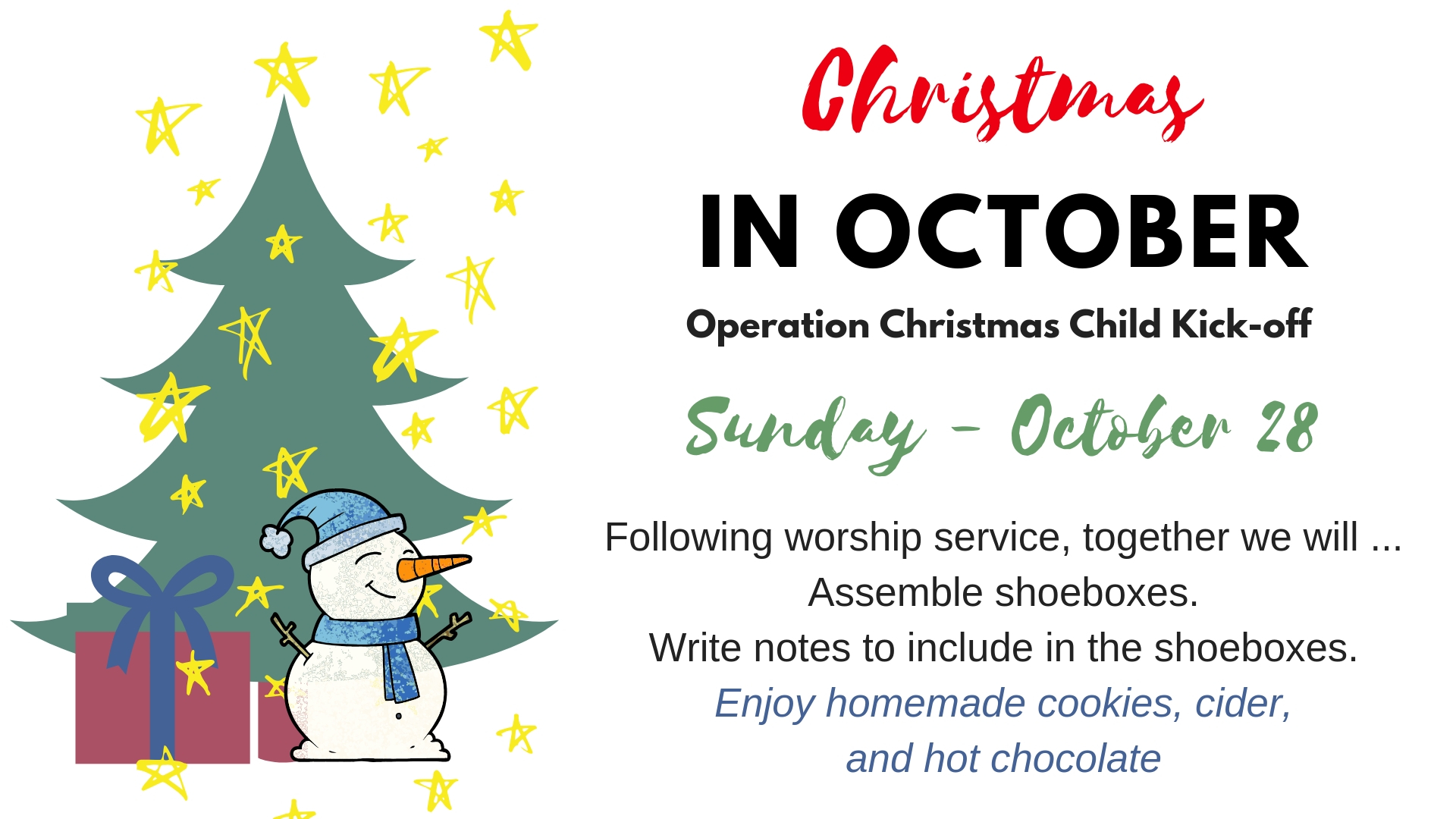 Christmas Child bulletin