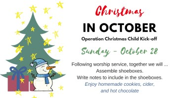 Christmas Child bulletin