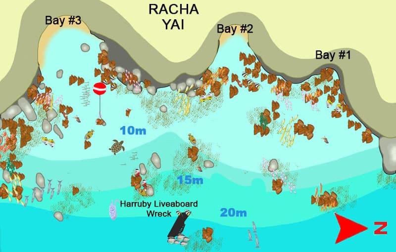 Thailand Liveaboard MV Giamani - Thailand Dive Sites - Racha Yai Bay 1, 2, 3