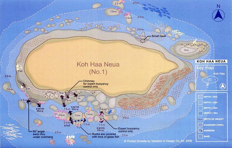 Thailand Liveaboard MV Giamani - Thailand Dive Sites - Koh Haa Neua