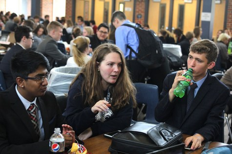 DECA competes at Blue Valley West on Thursday, Nov. 2