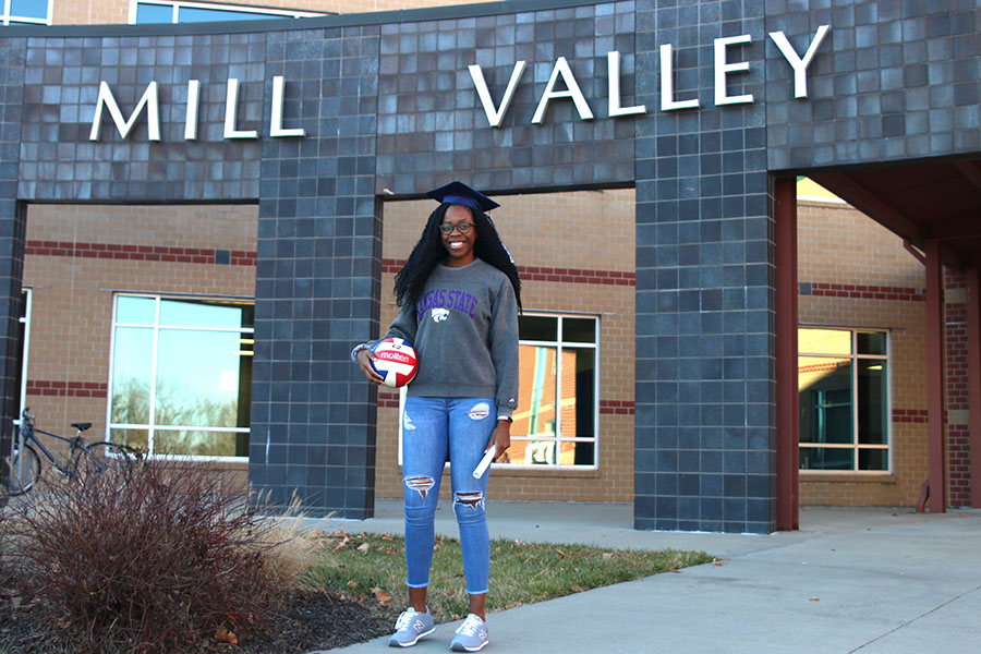 After+the+conclusion+of+first+semester%2C+senior+Abigail+Archibong+will+graduate+and+travel+to+Manhattan%2C+KS+where+she+will+begin+her+first+semester+at+Kansas+State+University+and+continue+her+volleyball+career.%0A