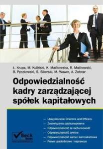 Publikacje podatkowe Odpowiedzialność kadry zarządzającej spółek kapitałowych