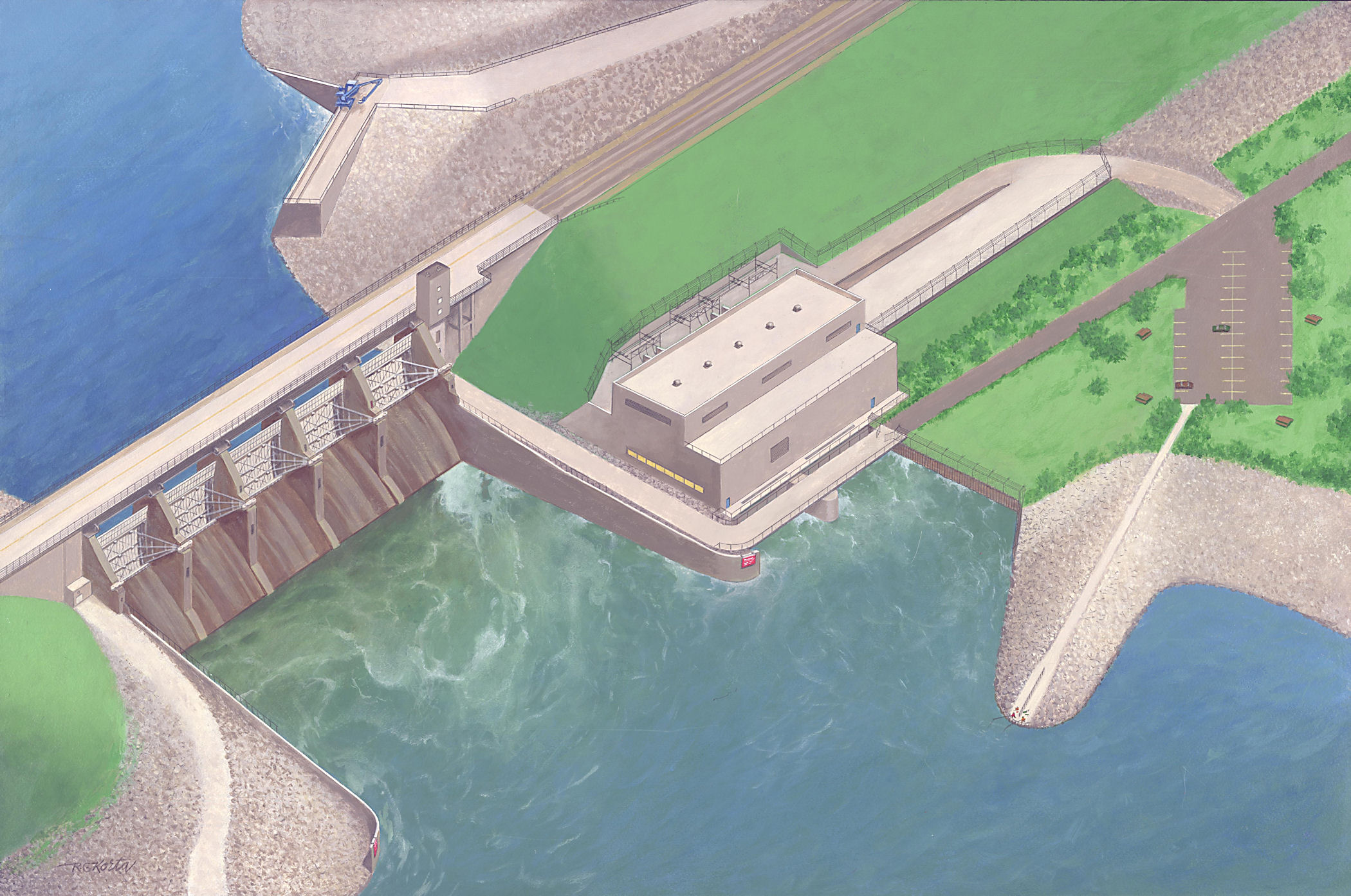 Rock Island District Gt Missions Gt Recreation Gt Lake Red Rock Gt Hydropower Facility Plans