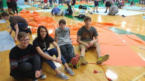 From left to right: freshmen Marshall Praml, Laila Bushagour, Max Eide and Kaarl Damberg.