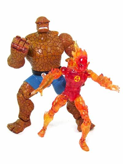 Fantastic Four Thing And Human Torch Action Figures Another Toy Review By Michael Crawford