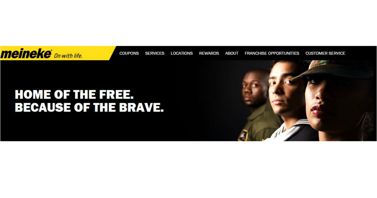 Meineke Oil Change >> Free Basic Oil Change For Veterans Active Duty Military Meineke