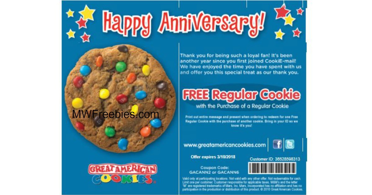 Some quick FAQs about Great American Cookies coupons & promo codes