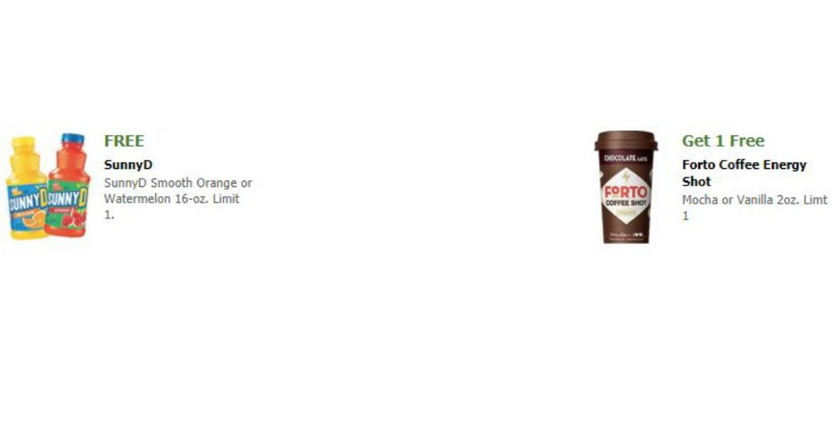 Free SunnyD & Forto Coffee Energy Drink at Acme, Jewel-Osco, Shaws ...
