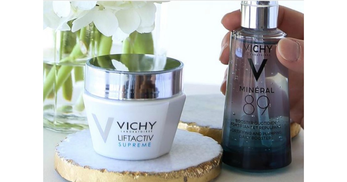 Free vichy mineral 89 hyaluronic acid face moisturizer sample.
